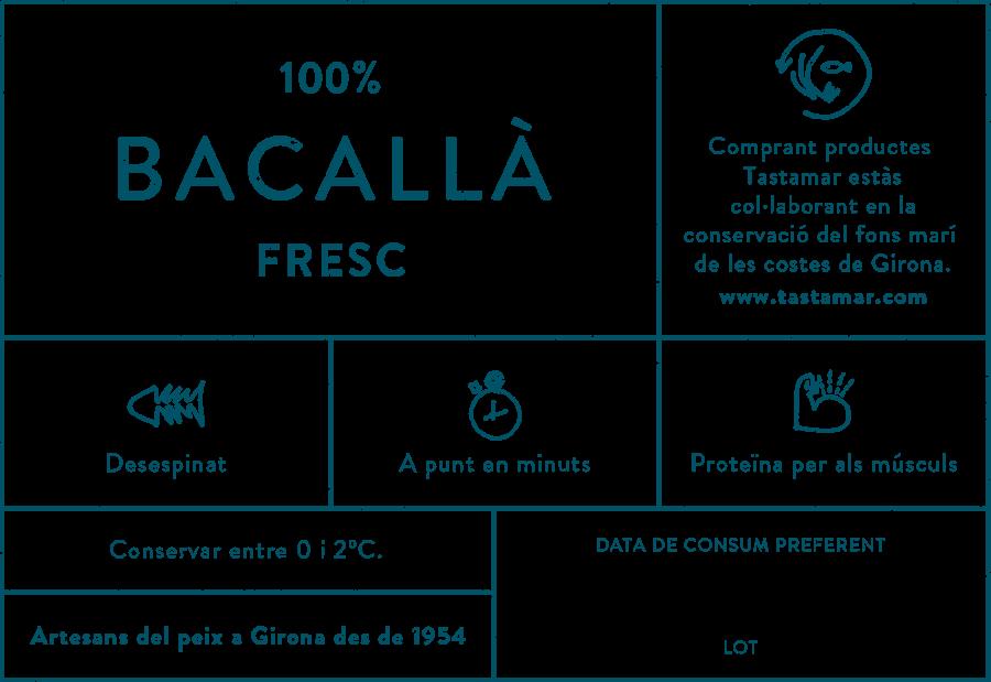 Tastamar - Etiqueta - Bacallà